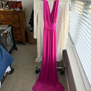 maxi dress with a cross back